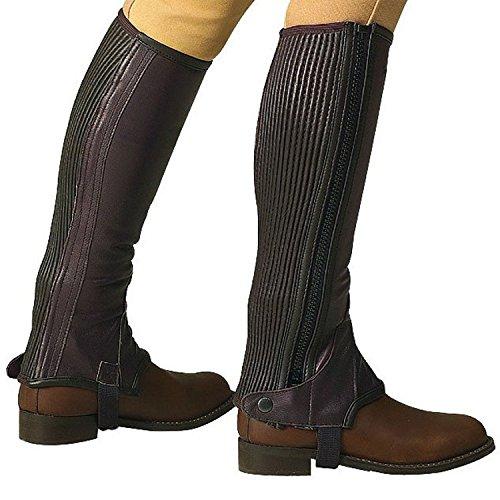 Polainas ERIC THOMAS cuero marrón