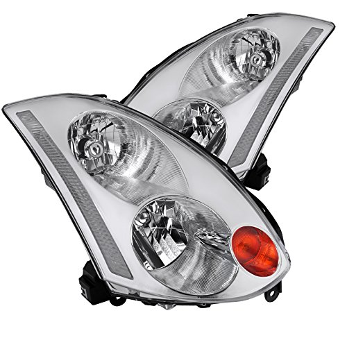 Fit Infiniti G35 2Dr Coupe HID Type Clear Lens Headlights Headlamps - G35 Coupe Infiniti 2005