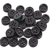 100x 10mm Black Cute Round Sew Buckles Button Cloth Accessory Craft Finding DIY