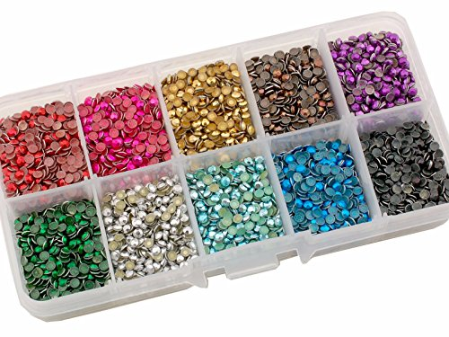 Summer-Ray SS10 2.8mm Assorted Color Hot Fix Rhinestuds In Storage Box by Summer-Ray.com