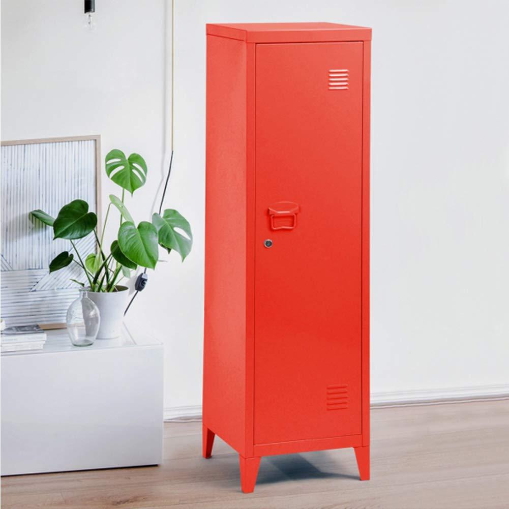 rouge Bakaji Armoire Armoire vestiaire m/étallique /à casiers verrouillables en m/étal porte avec fermeture /à cl/é 3/compartiments int/érieurs dimensions 138/x 38,5/x 38,5/cm