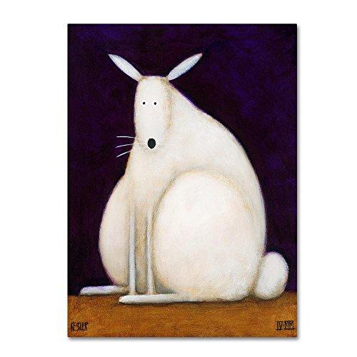 Bunny Canvas Art - Trademark Fine Art Bunny by Daniel Patrick Kessler, 18x24-Inch Canvas Wall Art
