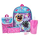 PuppyDog Pals Backpack Combo Set - Disney Puppy Dog Pals Girls' 6 Piece Backpack Set - Bingo and Rolly Backpack & Lunch Kit (Pink)
