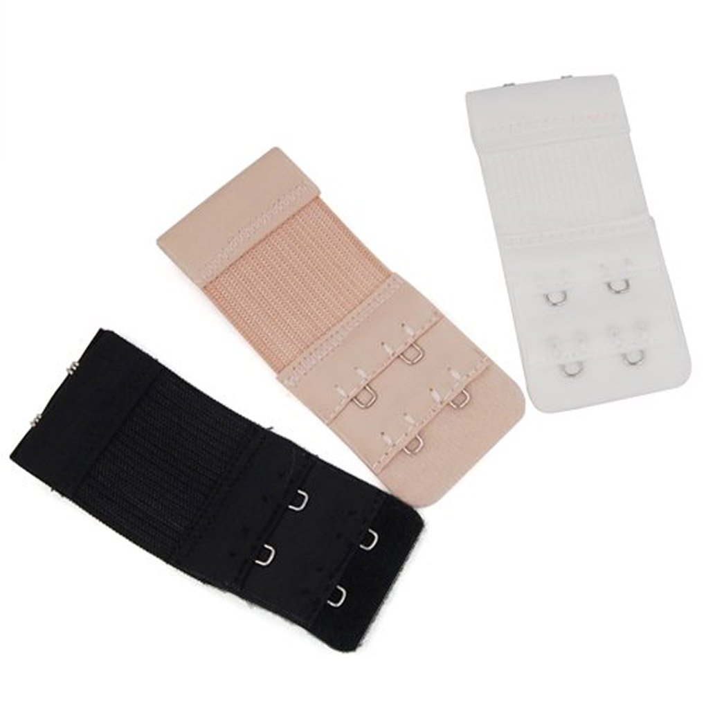 3pcs Electric Goal 2x3 Hooks Bra Extenders Strap Extention Strap Minzhi