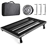 "Ghost Fire Guitar Pedal Board Aluminum Alloy 3.3lb. Lightweight Pedalboard 19.8"" x 11.5"" with Carry Bag, Guitar Pedal Cable"