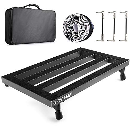 "Vangoa - Guitar Pedal Board Aluminum Alloy 3.3lb. Lightweight Pedalboard 19.8"" x 11.5"" with Carry Bag, Guitar Pedal Cable"