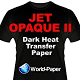JET-OPAQUE II HEAT TRANSFER PAPER 8.5 X 11'' CUSTOM PACK 50 SHEETS world-paper