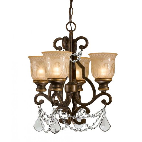 Crystorama 7504-BU-CL-MWP Crystal Accents Four Light Mini Chandelier from Norwalk collection in (Norwalk Four Light)