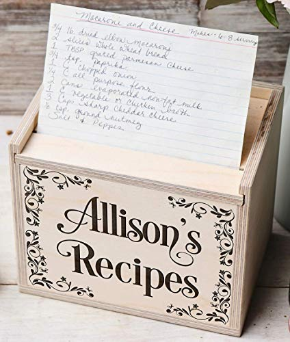 Personalized Custom Recipe Box Wedding, Housewarming Gift -