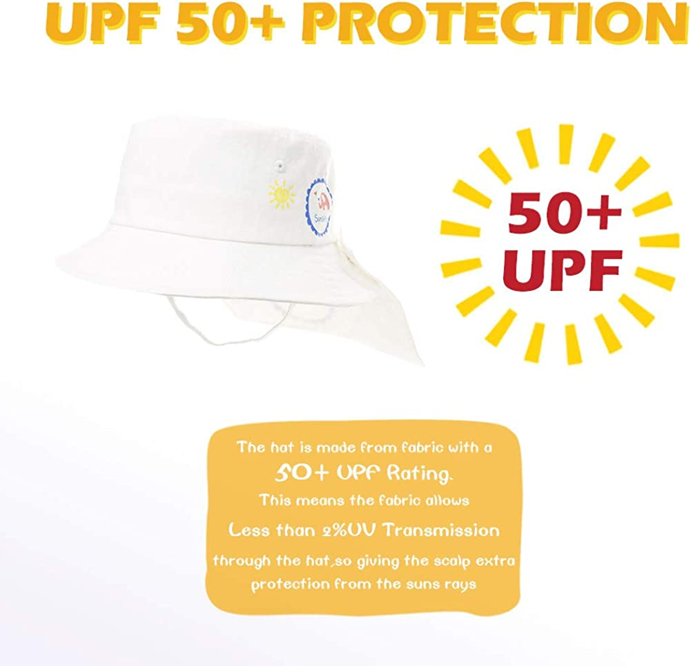 Adjustable with Chin Strap Hiking Swim Cap Infant Baby /& Kids Safari Sun Hat UPF50