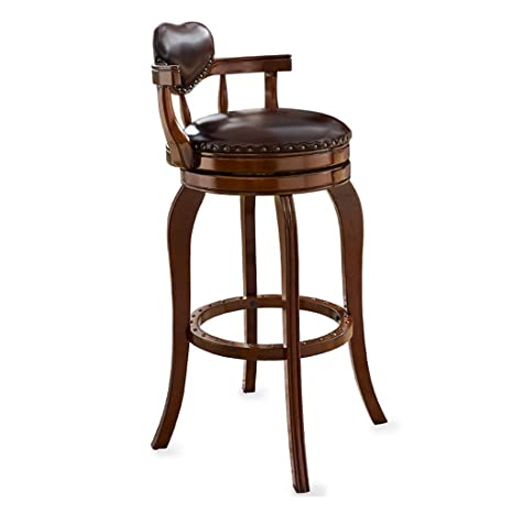 Astonishing Amazon Com Cylq Swivel Breakfast Bar Stool Leather Chair Cjindustries Chair Design For Home Cjindustriesco