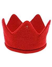 Anboo New Cute Baby Boys Girls Crown Knit Headband Hat