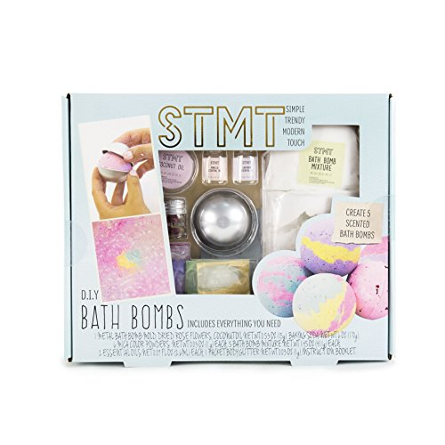 STMT by Horizon Group USA DIY Bath Bomb Kit, Do It Yourself Bath Bomb Kit, Multi Colored