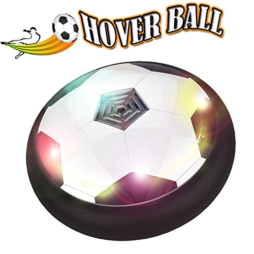 JR.WHITE Kids Toy Soccer Hover Ball Air Power Soccer Disk, Preschool Indoor Outdoor Training-Football Sport for Children, Boy and Girl Gift with Powerful LED Light, Parent Game Tool, Top Family Play