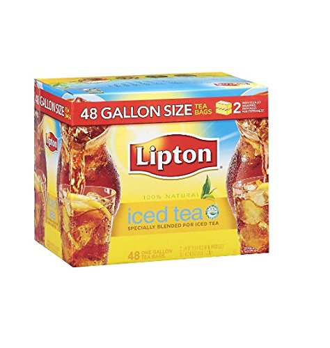 - Lipton Iced Tea, Gallon Size Tea Bags (48 ct.) (pack of 6)