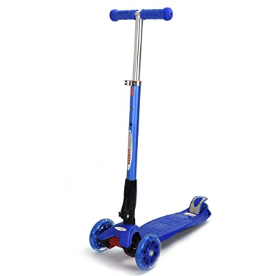 ChromeWheels Scooter for Kids Foldable with 3 PU Wheels: Toys & Games