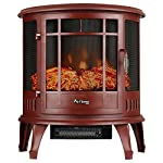 Regal Electric Fireplace - e-Flame USA 25 Inch Portable Electric Fireplace Stove with 1500W Space Heater. Realistic Flame and Log. Vintage Design for Corners É from e-Flame USA