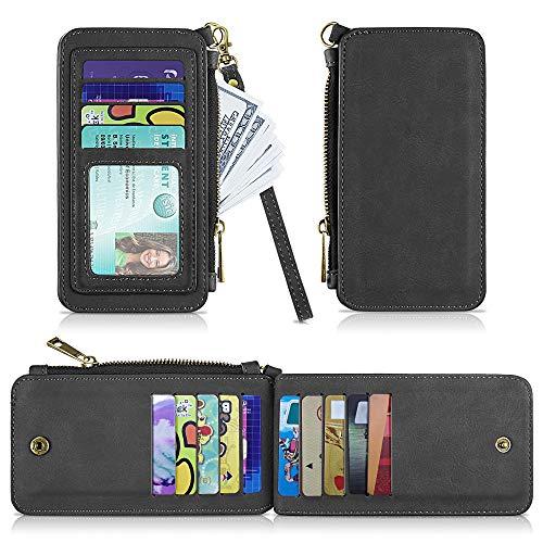 Leather Card Wallet,Slim RFID Blocking Credit Card Case Wallet Sleeve