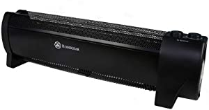 Homegear 1500W Low-Profile Electric Baseboard Heater, Silent Black Conventional Space Heat