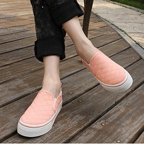 Sneakers Antiscivolo Antiscivolo Scozzese Da Donna Fashionwhisper Low Top Antiscivolo Su Scarpe Di Tela A Quadretti Rosa