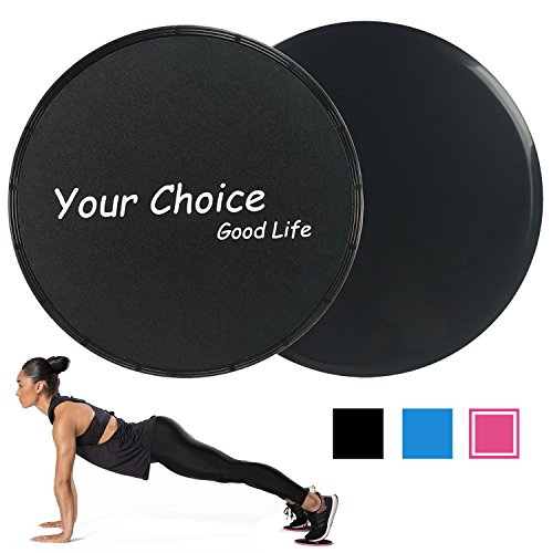 Your Choice Exercise Sliders Core Gliders Gliding Discs Fitness Equipment for Full Body Exercise, Dual Sided for Carpet or Hardwood Flooring, Compact for Travel or Home with Carry Bag and Instructions – DiZiSports Store