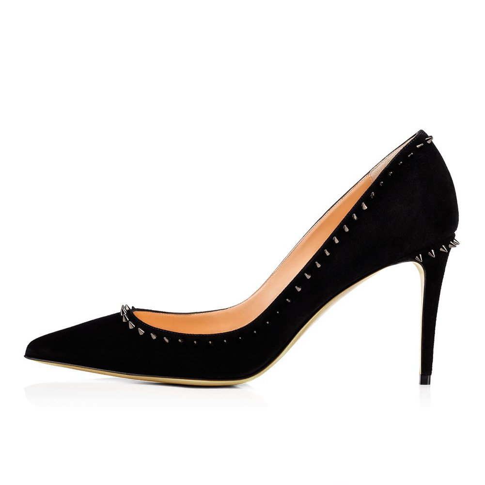 ZHZNVX Tipp schwarzen Nieten High Heels, weiß apricot Farbe Leder Hochzeit Schuhe B07CSPSD72 Sport- & Outdoorschuhe Vorzugspreis