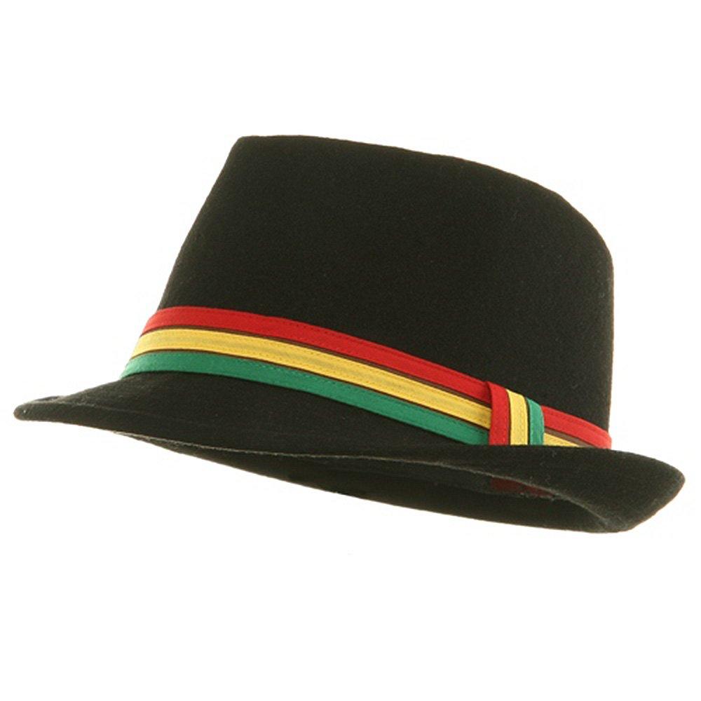 Amazon.com  MinLee Star Vivian Wool Rasta Fedora Hat - Black S-M  Clothing 1c4f21967f79