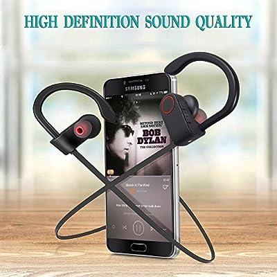 Bestfy Wireless 4.1 Bluetooth Headphones Sweatproof In-Ear Sports Earbuds Headset with Microphone