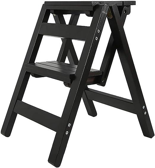 Escalera banqueta,silla de escalada de 2 escalones,madera maciza/multifunción/plegable/ahorro de espacio,para el hogar/interior/empresa/hotel y otros lugares con altos requisitos ambientales: Amazon.es: Hogar