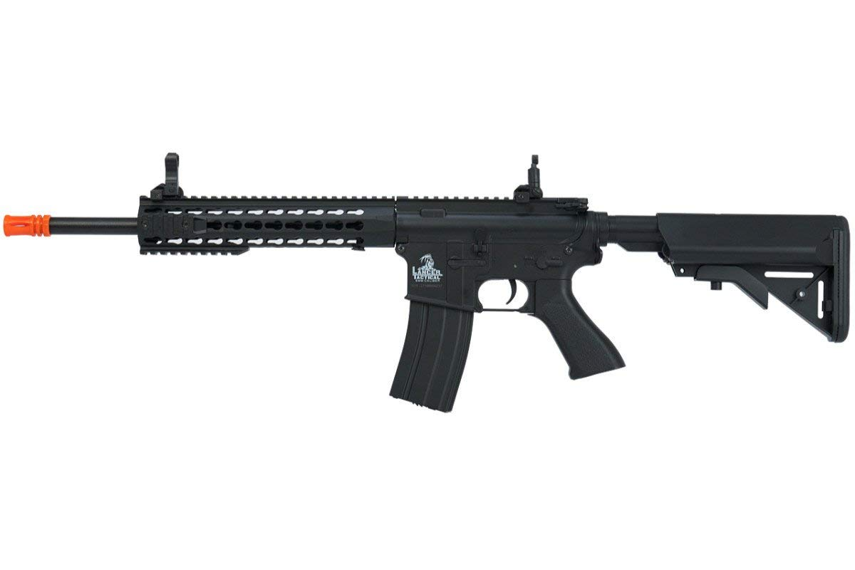 Lancer Tactical Full Metal Gear with 10 keymod Rail Interface System Polymer Body lt-19 (Black)(Airsoft Gun) by Lancer Tactical