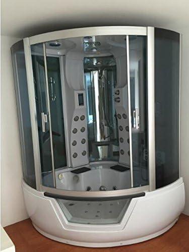 Bañera Ducha hidromasaje spa Bañera de esquina Terapia luz de ...