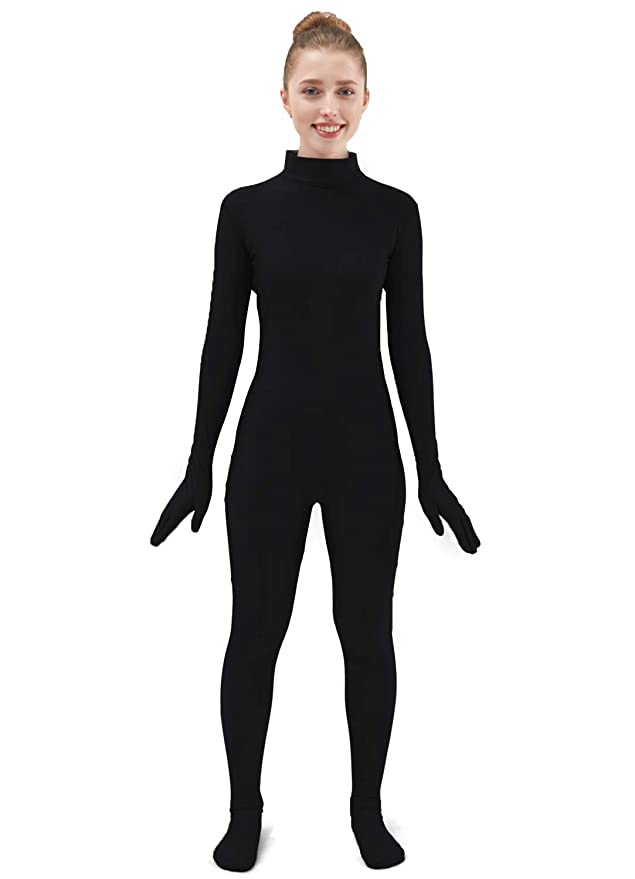 Ensnovo Womens One Piece Unitard Full Body Suit Lycra Spandex Skin Tights
