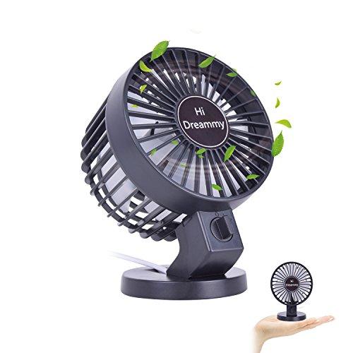 HiDreammy Mini Fan USB Fan( Quiet,Powerful,2-Speed,Coaxial Rotor,Adjustable)-Portable Fan USB Desk Fan USB Table Fan Small Fan Office USB Fan Home USB Fan Car Fan Men/Female/Kids Fan (Coaxial Rotor)