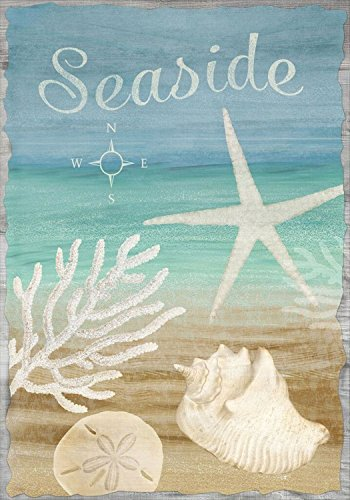 "Seaside Summer Garden Flag Beach Seashells Nautical 12.5"" x"
