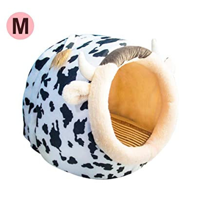 Rejoicing Caseta para Mascotas con diseño de Oso de Peluche y Jaula extraíble, Lavable,