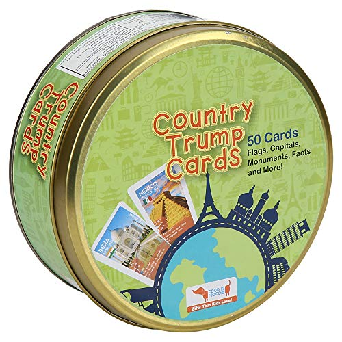 CocoMoco Kids Country Trump Cards Geography Game, Educational Toy, Return Gift for Kids Ages 5-8 Years, 9-12 Year Old Boys and Girls (Multicolor)