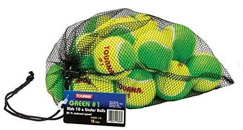 Tourna Low Compression Stage 1Tennisball mit Mesh Tasche (18er) von Einzigartige Sports Products, Inc