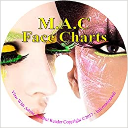 Makeup Face Charts 1700 Mac Cosmetic Training Charts Guide Costume