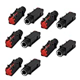 uxcell Audio 6.35mm 1/4 Inch 3Pin Mono Jack Panel Mount PCB Connectors 10 Pcs