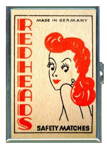 Redhead Germany Match Retro Double-Sided Cigarette Case, ID Holder, Wallet with RFID Theft Protection ()