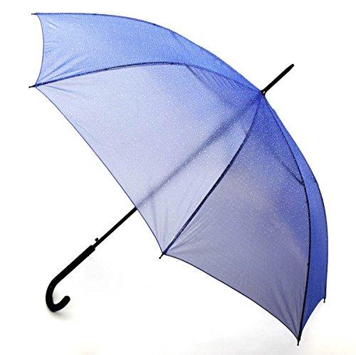 Paraguas Semitransparente Color Negro Efecto Estrellas Brillantes: Amazon.es: Equipaje