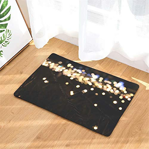 ATOLY Christmas Lantern Durable Flannel Door Mat, Non-Slip, Easy to Clean, Washable Indoor/Outdoor Mat Entrance