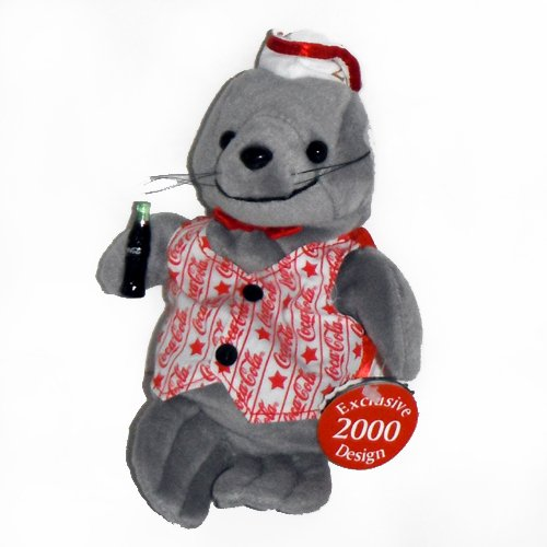 #0279 Coca-Cola Walrus - Exclusive 2000 Design - Coke Bean Bag Plush ()