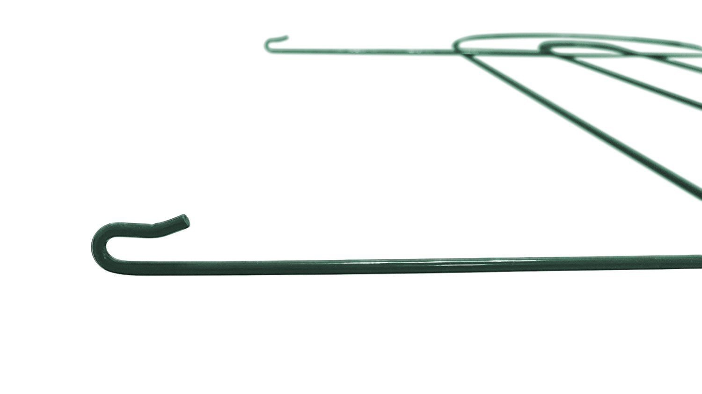 Amagabeli Decorative Garden Fence 32 in x 20 ft Rustproof Green Iron ...
