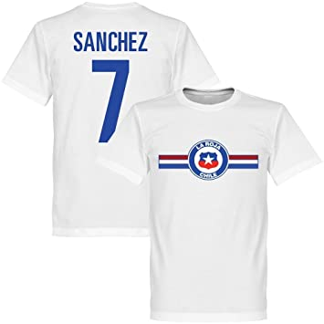 Chile Sanchez camiseta de fútbol, color blanco, unisex, blanco