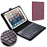 Cooper Backlight Executive Keyboard case Compatible with Samsung Galaxy Tab S3 9.7   2-in-1 Bluetooth Wireless Backlit Keyboard & Leather Folio Cover   7 Color LED Keys (Purple)