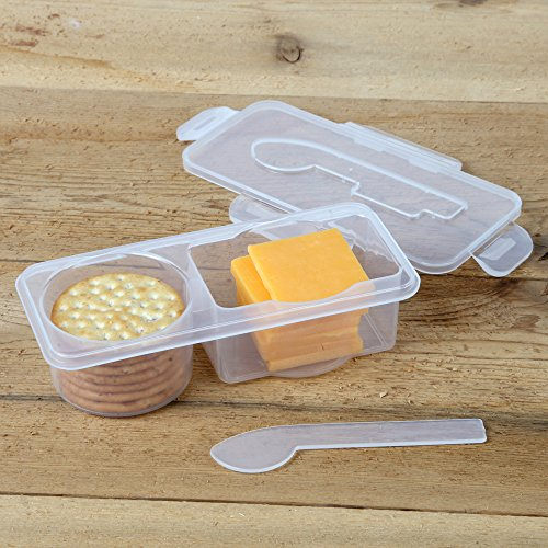 Home-X Cheese and Crackers To Go Container (Goldfish Cracker Container compare prices)