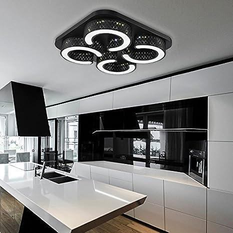 HENGDA® LED luz blanca fría plafón 48 W Lámpara de techo ...
