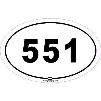 Amazon Custom Signs 551 Area Code Bumper Sticker For Car Automotive