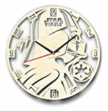 Cheap 7ArtsStudio Dark Side Star Wars Darth Vader Wall Clock Made of Wood – Perfect and Beautifully Cut – Decorate Your Home with Modern Art – Unique Gift for Him and Her – Size 12 Inches